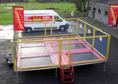 6 Bed Trailer Trampolines