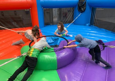 Bungee hungry hippos inflatable game rental