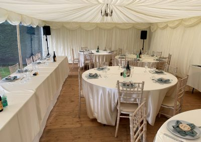 White Tables and Chairs Rental Ireland